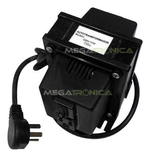 autotransformador 750w reales 220v a 110v ind.arg en caja
