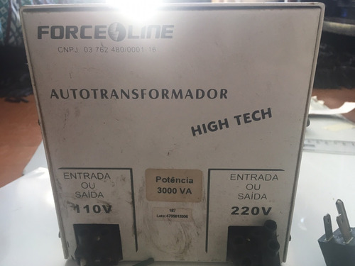 autotransformador high tech300v force libe 220v/110v