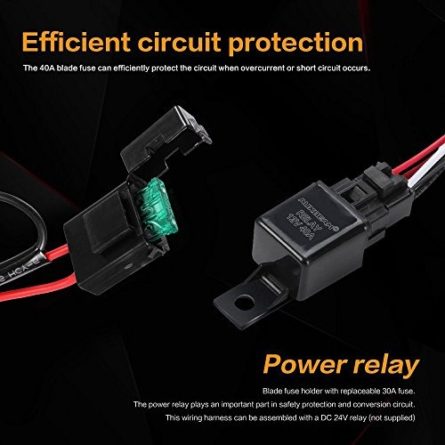 Auxbeam Mazo De Cables Para Barra De Luz Led Con 12v 40amp F