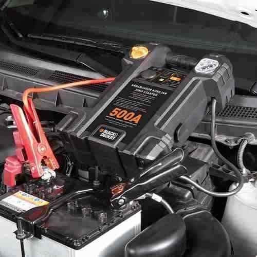 auxiliar de partida 12v p/ carro com lampadas led 500a b&d