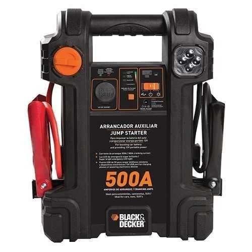 auxiliar de partida black & decker- 500a 12v (bivolt)