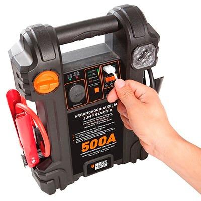 auxiliar de partida black e decker- 500a js500s 12v bivolt