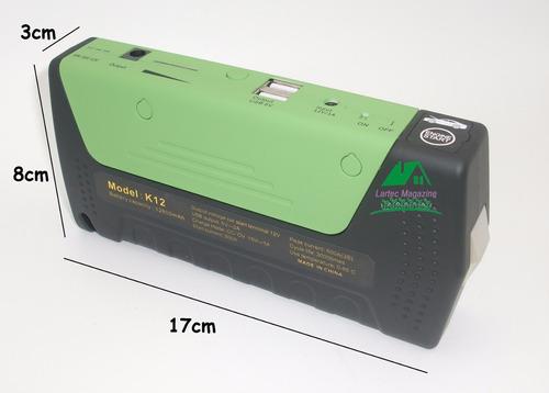 auxiliar partida carregador de bateria 12800mah saída 12v