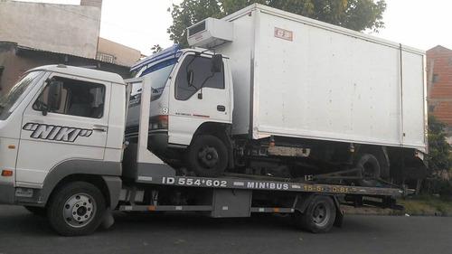 auxilio mecánico grua remolque24hs camilla traslado minibus