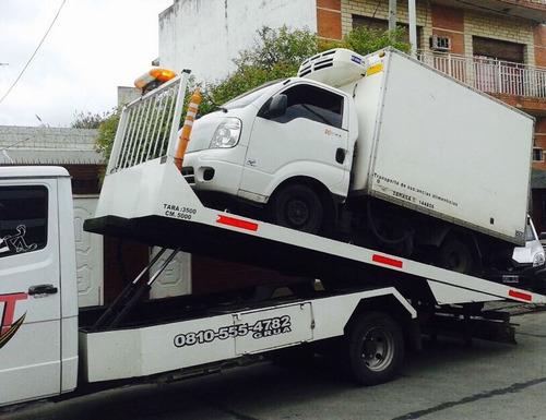 auxilio mecánico remolques grúa camilla traslados m&t 24hs