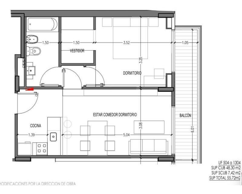 av libertador y sucre 2 ambientes 55,72 m2  amenities entrega marzo 2020