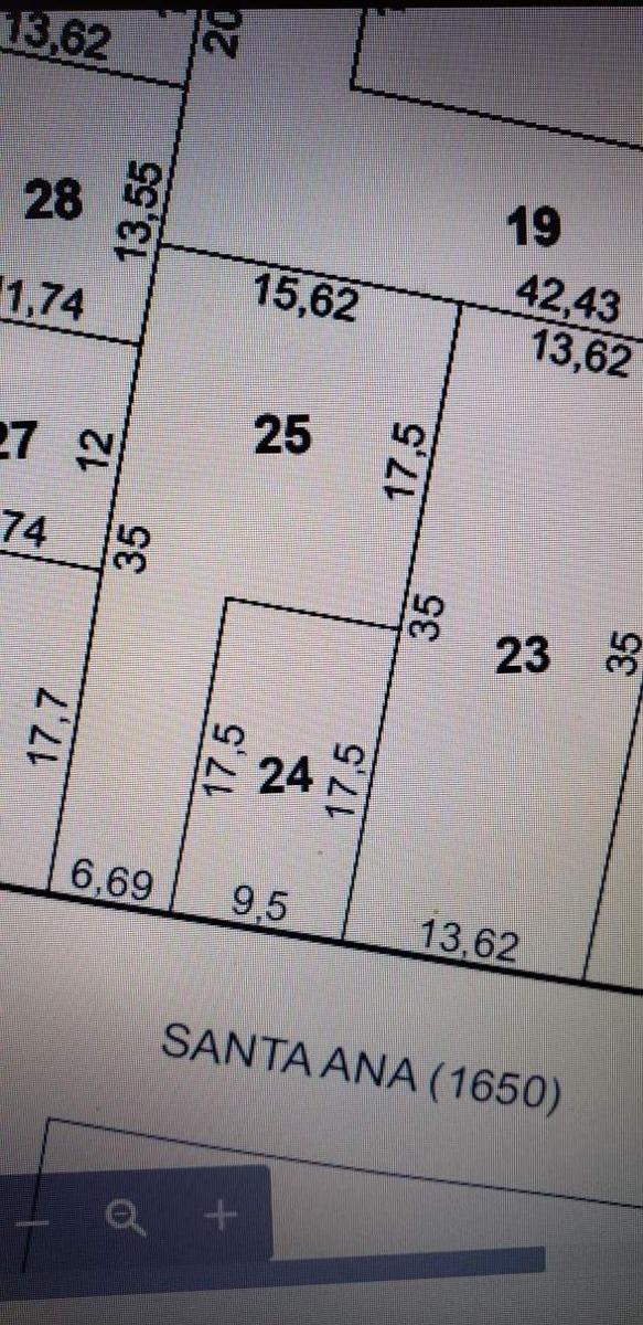 av santa ana, proximo a nueva cba 15,6m frente por 35m de fondo oportunidad!