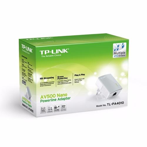 av500 powerline extender tp link tl-pa4010 unidade cabo
