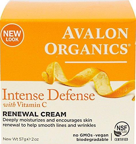 avalon organics vitamina c renovación crema, 2 oz