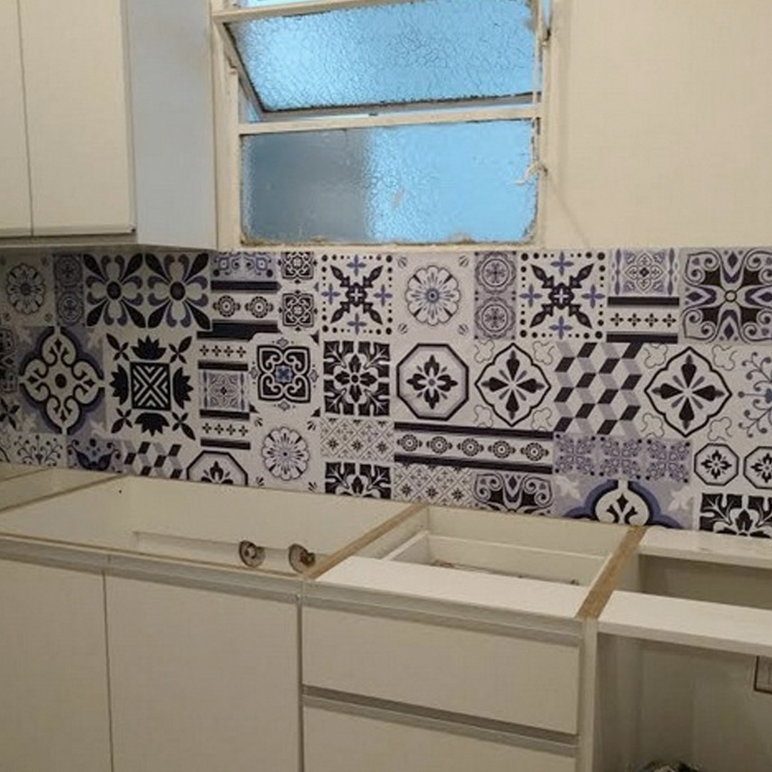 Avalon Vinilos Decorativos Azulejos Patchwork Cocina Baño - $ 460,00 ...