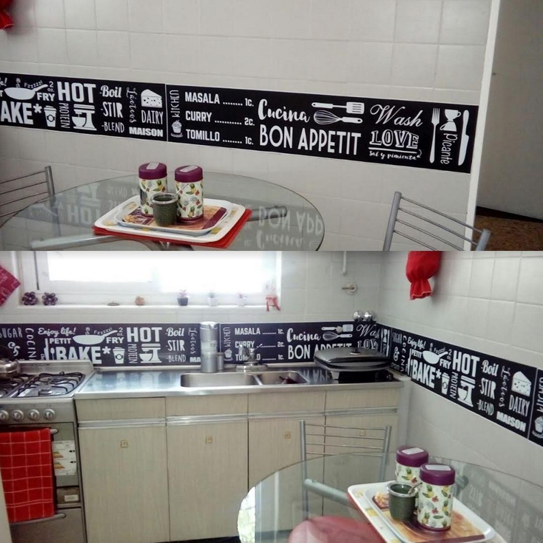 Cenefa vinilo cocina cancelar with cenefa vinilo cocina for Guardas para cocina