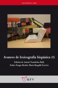 avances de lexicografía hispánica (ii): 2 (fuer envío gratis