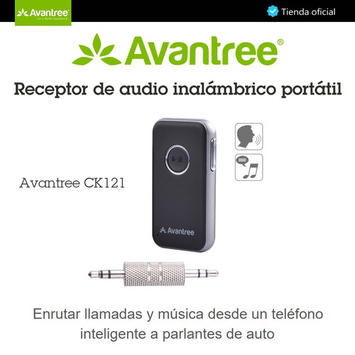 avantree ck121, adaptador de audio bluetooth 4.1, recargable