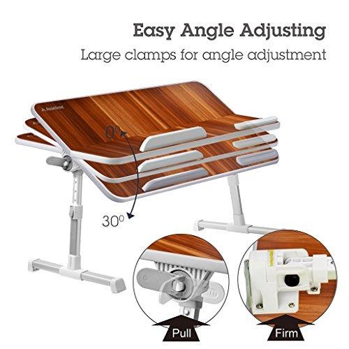 avantree de gran tamaño mesa de cama portátil ajustable es