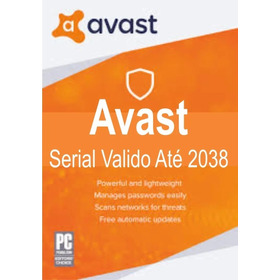Avast Antivírus Valido Até 2038 Para Diversos Pc's Original