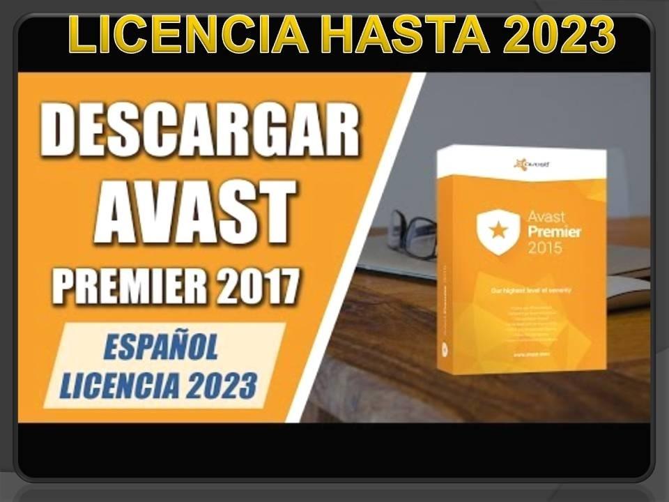 descargar avast premier 2017 full español con licencia hasta 2023
