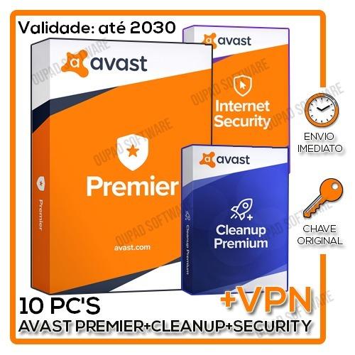 Avast Premier 2018 Até 2031 + Vpn - Licença Chave Serial Key