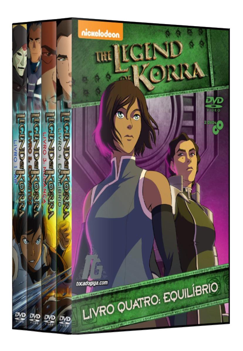 Avatar A Lenda De Korra Dublado Completo 8 Dvds R 64 00