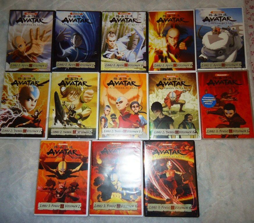 Avatar 2 Y 3: Avatar, La Leyenda De Aang. Serie Animada De Tv En Dvd