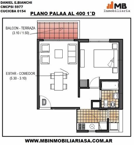 avellaneda dpto 2 amb.c/balcón en palaa al 400 1°d