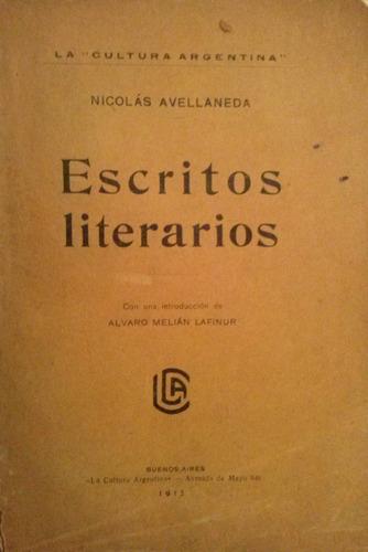 avellaneda, nicolas - escritos literarios, la cultura argent