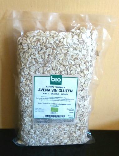 avena integral y avena granola sin gluten orgánica