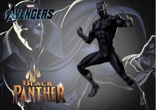 avengers black panther - pantera negra figura 15 cm - hasbro