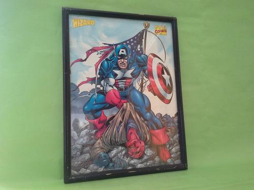 avengers - cuadro  capitan america 1998 - avenger - marvel