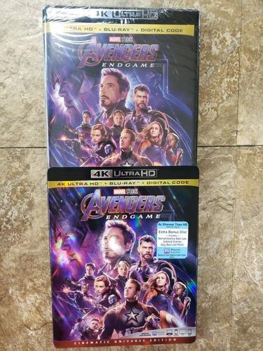 avengers endgame 4k + blu-ray + digital hd