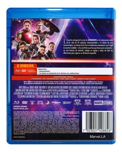 avengers endgame marvel pelicula blu-ray + dvd + bonus