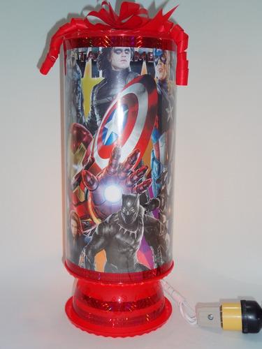 avengers infinity war 10 centros de mesa lamparas 38cm perso