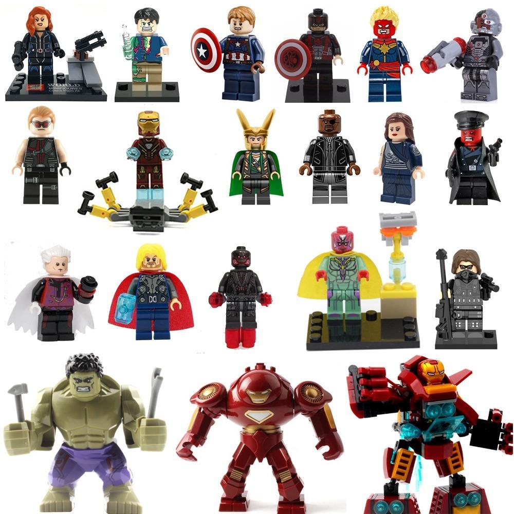 Avengers Marvel Super Heroes Minifiguras Tipo Lego Hulk