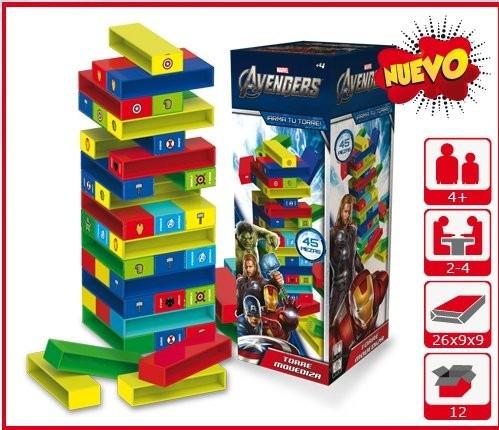 Avengers Torre Movediza Tipo Jenga Para Ninos Lic Original 359