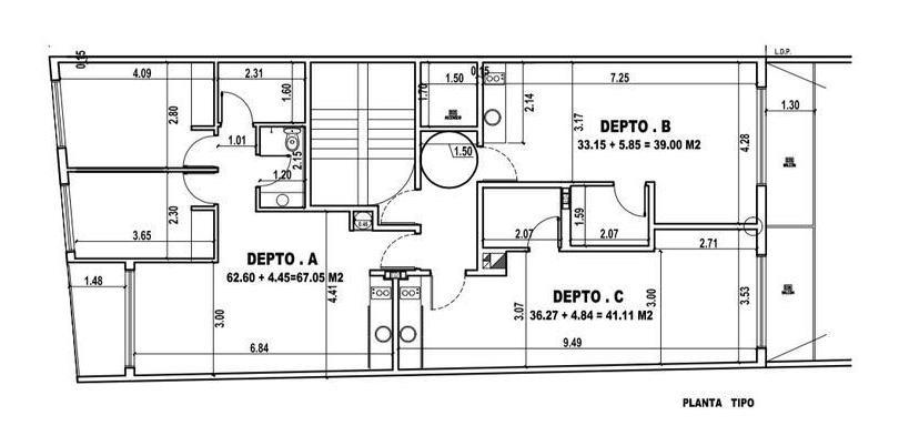 avenida belgrano y sanchez de loria 8,60 x 34 apto 1700 m2 codigo nuevo