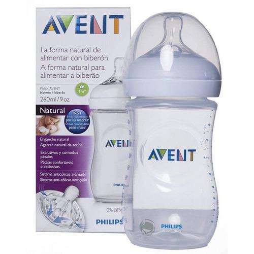 avent - biberón para bebés de 9oz / 260ml natural