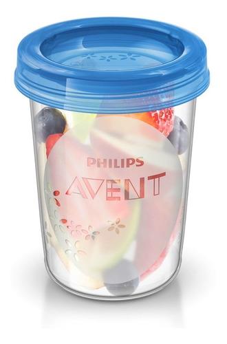 avent - pack x 5 vasos de almacenamiento para comida 240ml