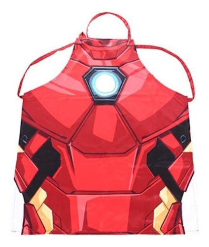 avental de cozinha miniso - homem de ferro