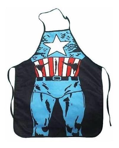 avental divertido - capitão america - pronta entrega