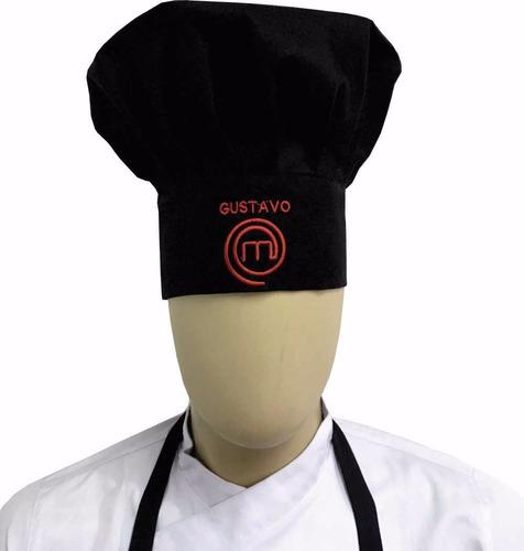 avental e chapeu masterchef  personalizado bordado nome  top