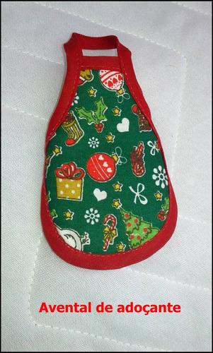 avental estampado para frasco de adoçante