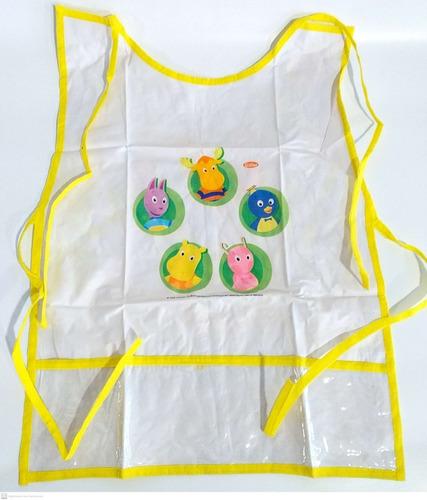 avental infantil para escola e pintura backyardigans gedex