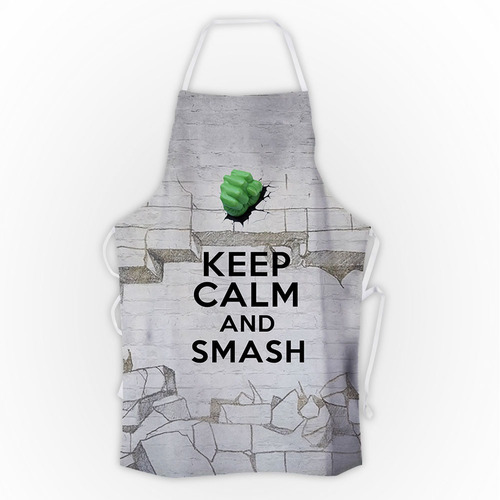 avental keep calm and smash