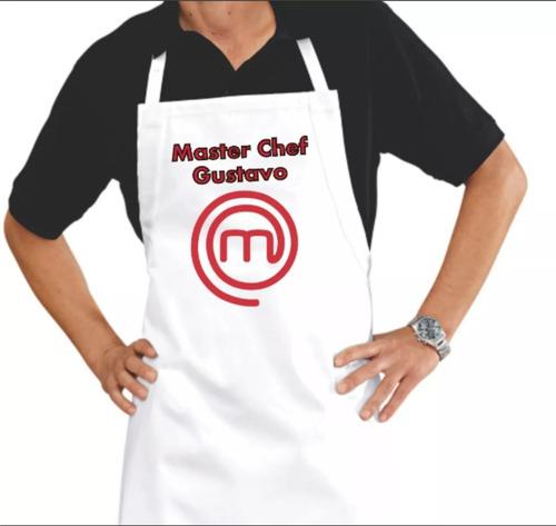 avental master chef com seu nome