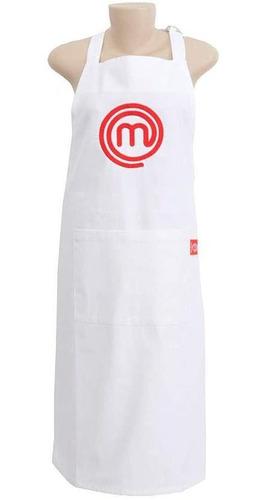 avental masterchef branco em algodão 96x69cm master chef