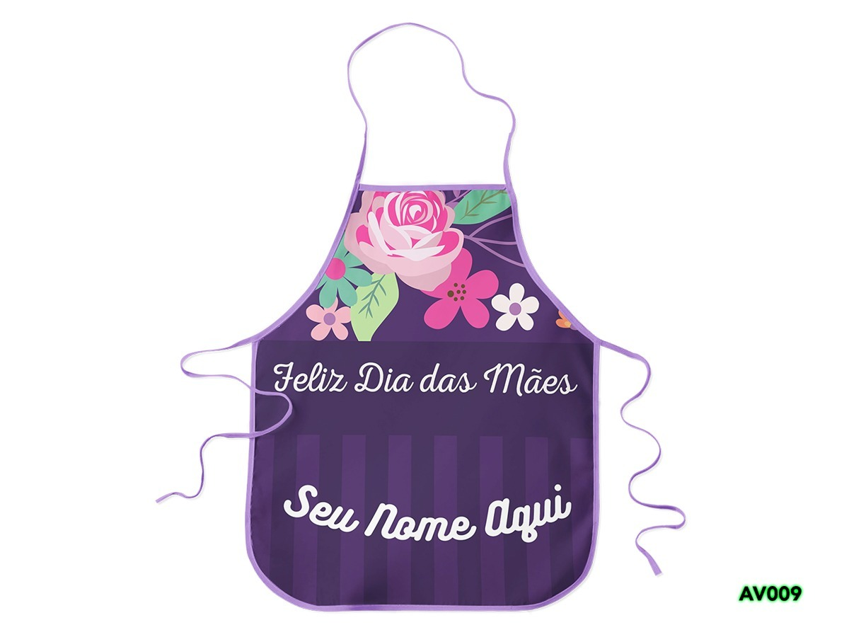 a48318d3c Avental Personalizado C/ Nome Dia Das Mães - R$ 49,00 em Mercado Livre