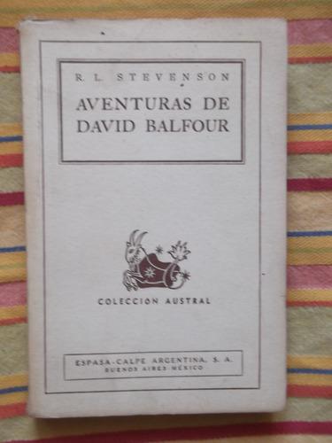 aventuras de david balfour r. l. stevenson 1943