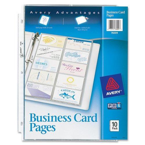 Avery Negocio De Páginas De Cartas, El Paquete De 10 (76009 - $ 954 ...