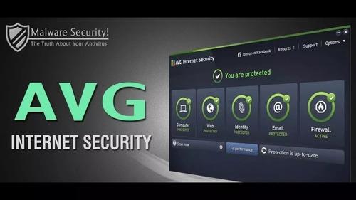 avg internet security 2019 + avg tuneup 5 pcs 3 años