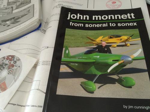 aviação experimental sonex aircraft - plantas originais