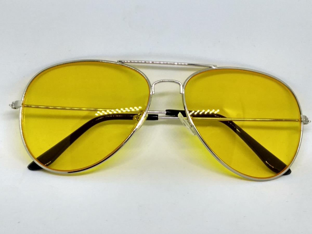 Aviador Amarelo Óculos De Sol - R  34,99 em Mercado Livre 09712fbffd